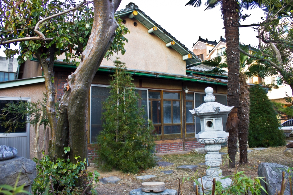 colorful colonial japanese house