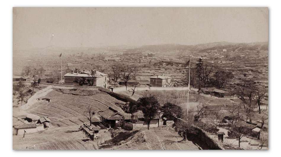 British Legation Buildings - c1890 - Moffett Korea Collection